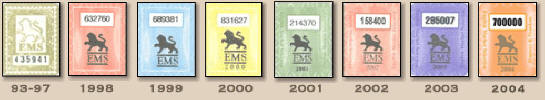 EMS stickers 1993-2004