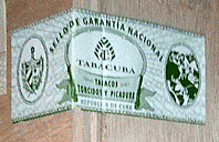 Cuban tobacco transit seal