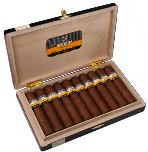 Typical Cohiba packaging