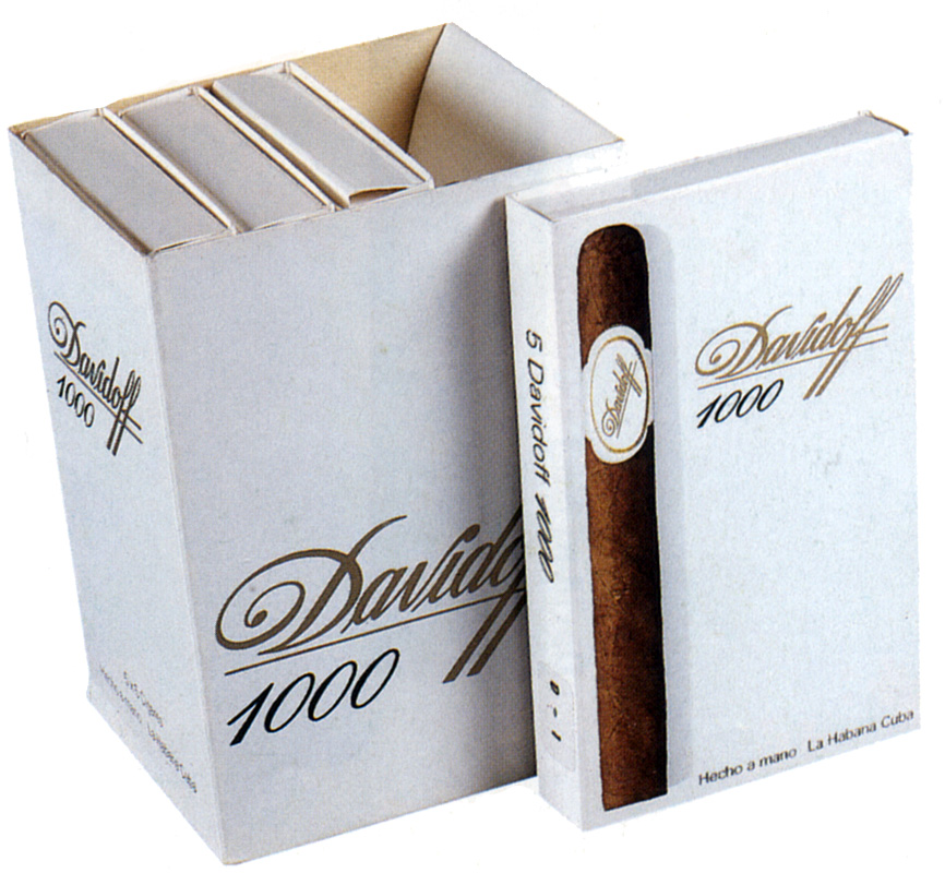 Typical Davidoff packaging