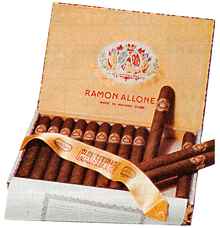 Typical Ramón Allones packaging
