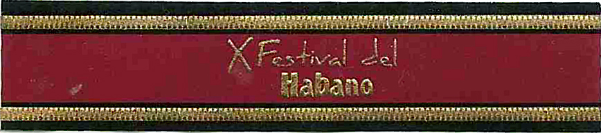 Festival del Habano Band - embossed image